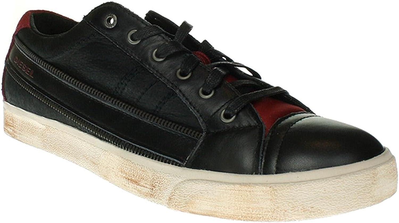 Diesel herr skor D -Stringaa Mode skor läder svart svart svart röd Y01107 P1038 H2177  köpa billigt