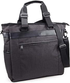 (Marib select) 2WAY 撥水機能 大きめトート トートバッグ ショルダーバッグ 肩掛け たっぷりマチで大容量 ビジネス PC対応 キャリーオン 多機能バッグ 鞄 メンズ #c363