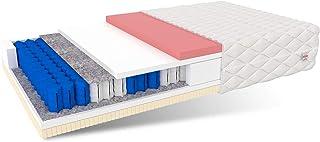 FDM KOS-Colchón de muelles ensacados (90 x 200 cm, 7 Zonas, dureza H2/H3, Espuma de Poliuretano Visco, 29 cm de Alto), Látex, 2
