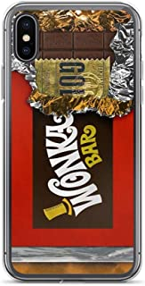 iPhone XR Pure Clear Case Cases Cover Wonka Chocolate Bar with Golden Ticket