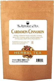 The Republic of Tea Cardamon Cinnamon Herbal Full-Leaf Tea, 1 Pound / 150-180 Cups
