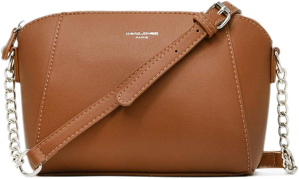 David jones - borsa a tracolla piccola per  donna, in pelle sintetica, marrone CM3549 5024 CA