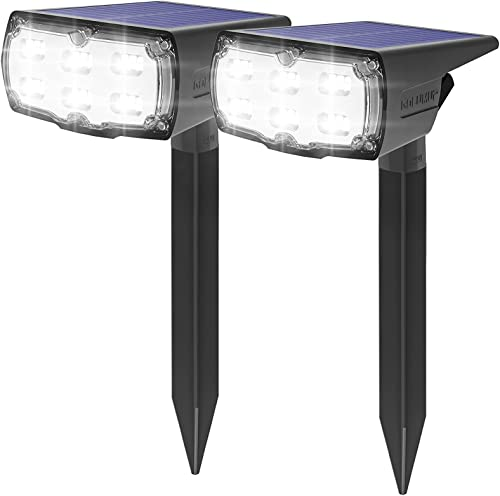 GOLUMUP 36 LED Luces Solares para Exterior Jardin Focos Solares Exterior Impermeable IP67 Lámparas Solares para Jardí...