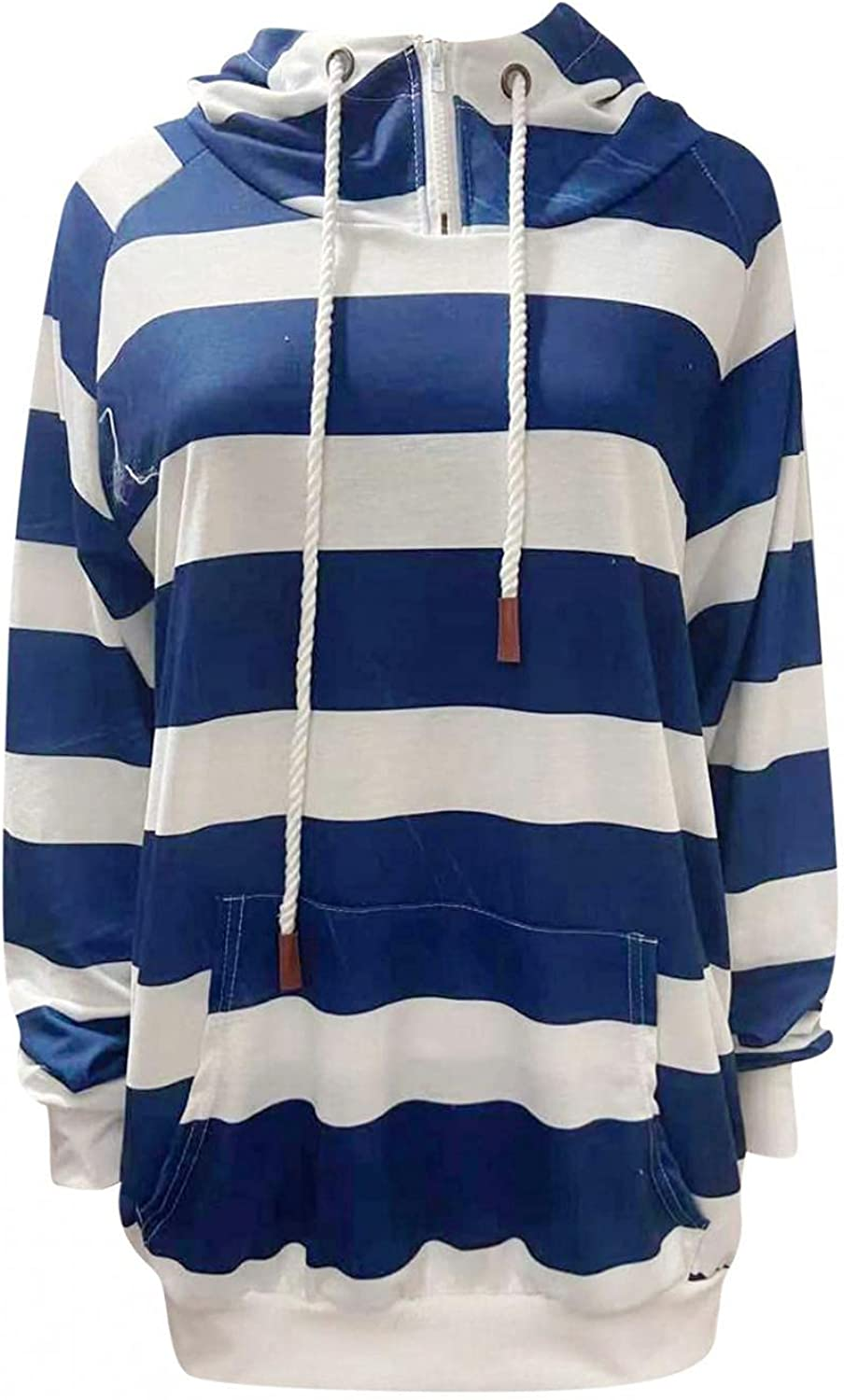 Super beauty product restock quality top HUOJING Winter Hoodie Outlet ☆ Free Shipping for Women Long Striped Sweatshirt Hooded S