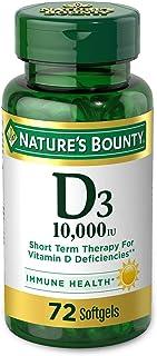 Vitamin D by Nature's Bounty for immune support. Vitamin D provides immune support and promotes healthy bones. 10000IU, 72...
