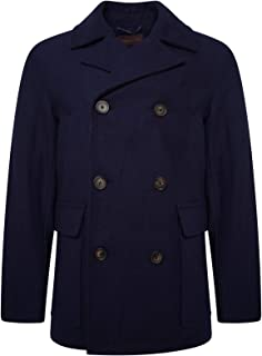 HARRY BROWN Peacoat Wool Blend Double Breasted