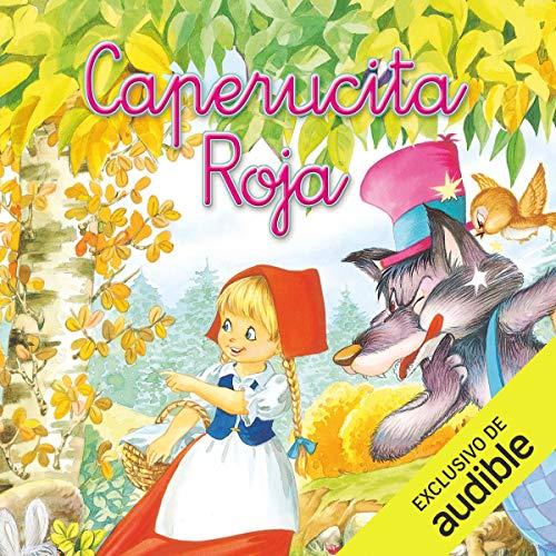 Diseño de la portada del título Caperucita Roja (Narración en Castellano)