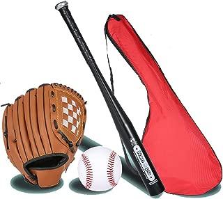 IDE Con Mezclado 25' Conjunto de béisbol Infantil, Conjunto de béisbol, Bate de Madera, Bola y del Guante de béisbol, Mayor de la Liga de béisbol Menor BallLittle Set Kit Multicolor,C