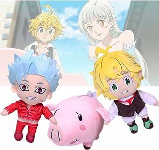 2/3Pcs Seven Deadly Sins Plush Toy, Soft Stuffing Dolls and Pendants Ban&Meliodas&Hawk Cartoon Dolls for Creative Gifts an...