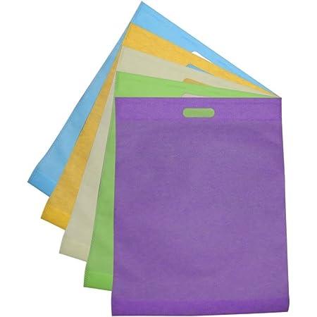 Eurofides/® 100 Shopper Borse TNT Manico fustellato a Fagiolo cm.25x33 Colore Arancio