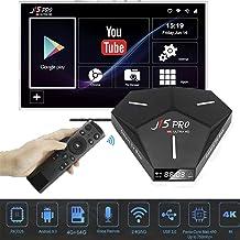 $74 » Dnyker Android 9.0 TV Box, Quad-core Cortex-A53 CPU 4GB RAM 64GB ROM 2.4GHz/5GHz Dual Band WiFi 4K Ultra HD Resolution Bluetooth 4.0 Streaming Media Player