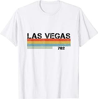 Vintage Retro Stripes Las Vegas City Area Code 702 T Shirt