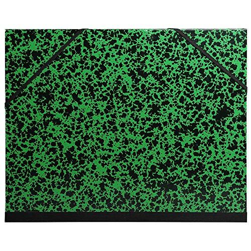 Exacompta 542800E Zeichenmappe Annonay, mit Gummizug, 50 x 72 cm, 1 Stück, grün