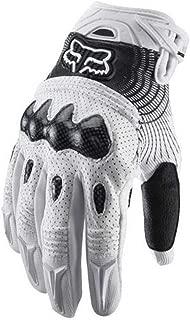 fox bomber gloves white