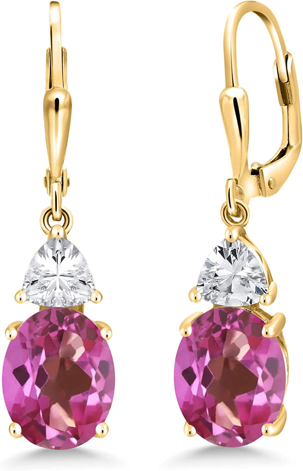 Gem Stone King 8.04 Ct Oval Pink It is very popular Max 49% OFF Mystic Gold Topaz 18K Pl Yellow