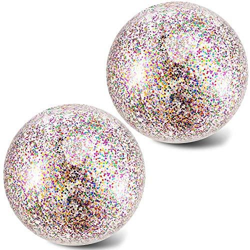 Opplei konfetti bunten 24 Zoll Beach Ball Glitzer-konfetti Photograph Props Erwachsene Party Wasserball