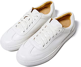 Genuine Leather Women Flats White Shoes Platform Spring Autumn Casual Shoes