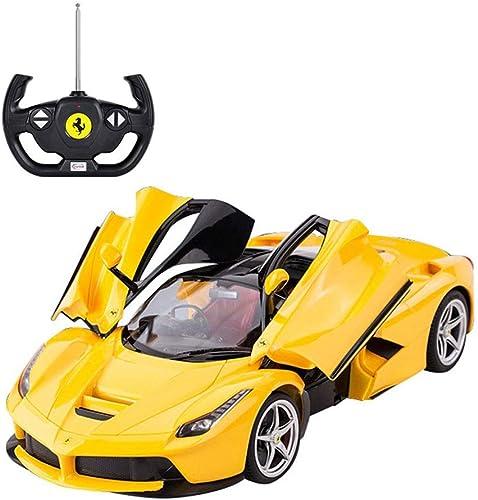 PETRLOY Neue Gelbe Supercar Modell RC Auto 1 14 Elektrische 2,4 GHz Fernbedienung Gebührenpflichtig Mit Scheinwerfer High Speed  rifüracing Spiel Fernbedienung Spielzeugauto R C fürzeug für Kind