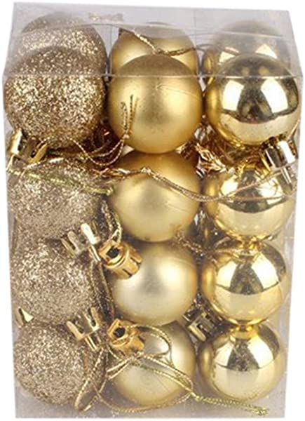 Sumen Xmas Ball Ornaments 24 Pack 30mm Christmas Tree Ball Bauble Hanging Home Party Decor