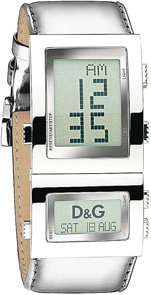 Dolce & gabbana,orologio per donna,in acciaio inossidabile e cinturino in vera pelle al 100% DW0359