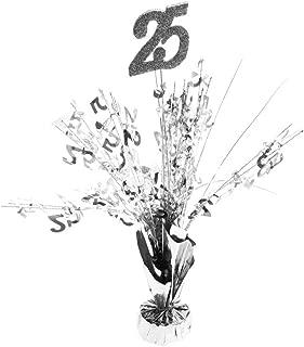Party Deco 25th Anniversary Centerpieces -pkg/6