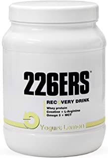226ERS Recovery Drink, Recuperador Muscular con Proteína, Creatina, Hidratos de Carbono, Triglicéridos y L-Arginina, Yogurt Limón - 500 gr