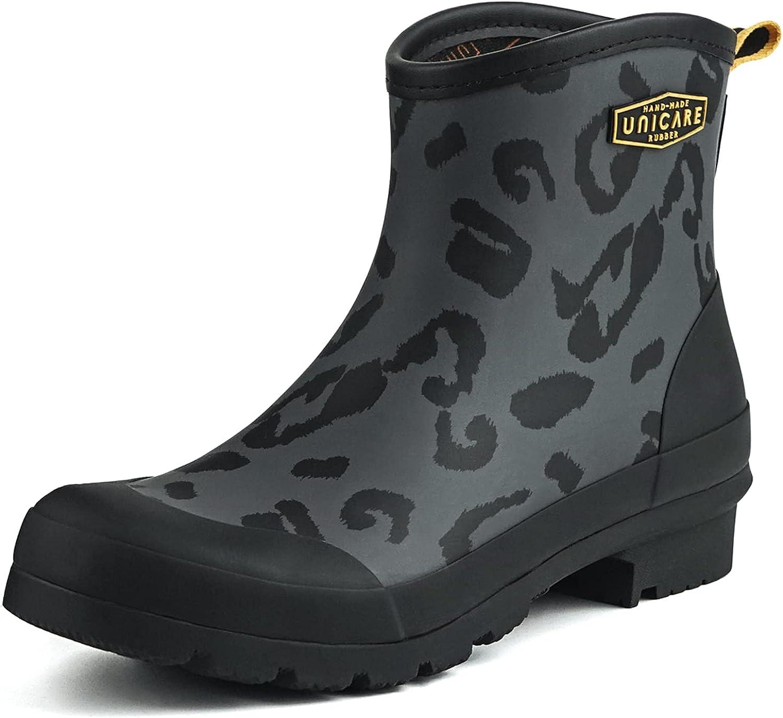 UNICARE Rubber Rain Boots for Women   Short Boots