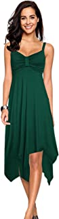 Leadingstar Women's Casual Party Fit and Flare Midi Dress