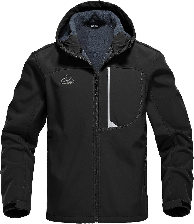 Rdruko trust Men's Outdoor Softshell Jacket Zip Fleece Free shipping / New Full Lined Wate