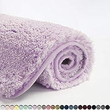 Suchtale Bath Rug for Bathroom Non Slip Bathroom Mat (20 x 32, Lavender) Water Absorbent Soft Microfiber Shaggy Bathroom R...