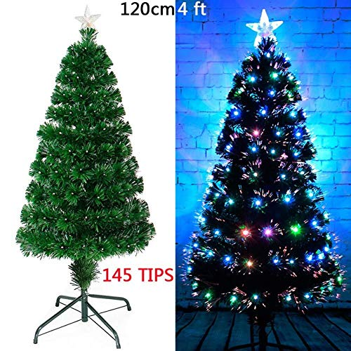 Purchase LAOHAO Christmas Decorations 4'/ 5'/ 6' Fiber Optic Christmas Tree Color Changing Tradition...