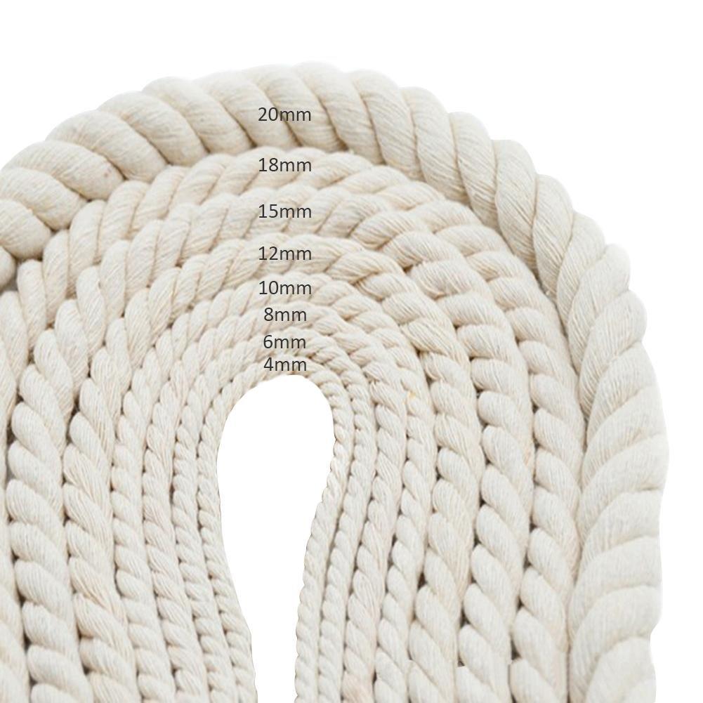 knowledgi Cuerda Hecha a Mano DIY Cuerda de algodón Blanquecino Cuerda de macramé Tejido Trenzado Hilo Decorativo para Cuerda Artesanal, Floristería de jardinería, Cuerda de Paquete de jardín: Amazon.es: Hogar