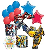 Mayflower Products Transformers Birthday Party Supplies 13pc Optimus Prime and Bumble Bee Balloon Bouquet Decorations