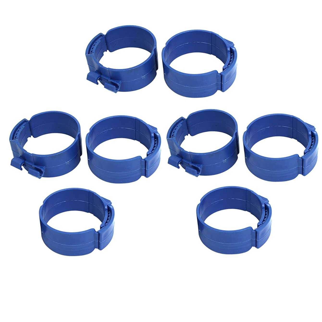 Aexit 90mm Dia Civil Equipment Hardware Accessories 38mm Width Central Air Conditioner Pipe Clip Clamp Blue 8pcs Model:61as351qo769