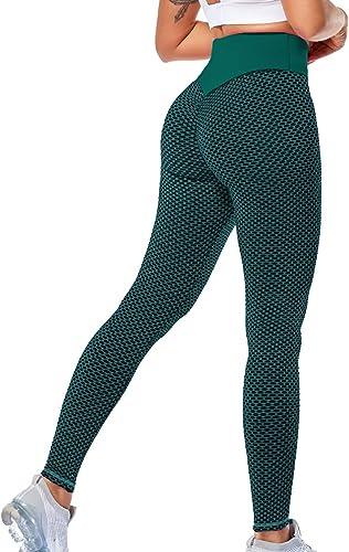 Lalamelon Femme Legging Sport Anti Cellulite Push Up Yoga Pants Pantalon de Compression avec Poches Collant Fitness H...