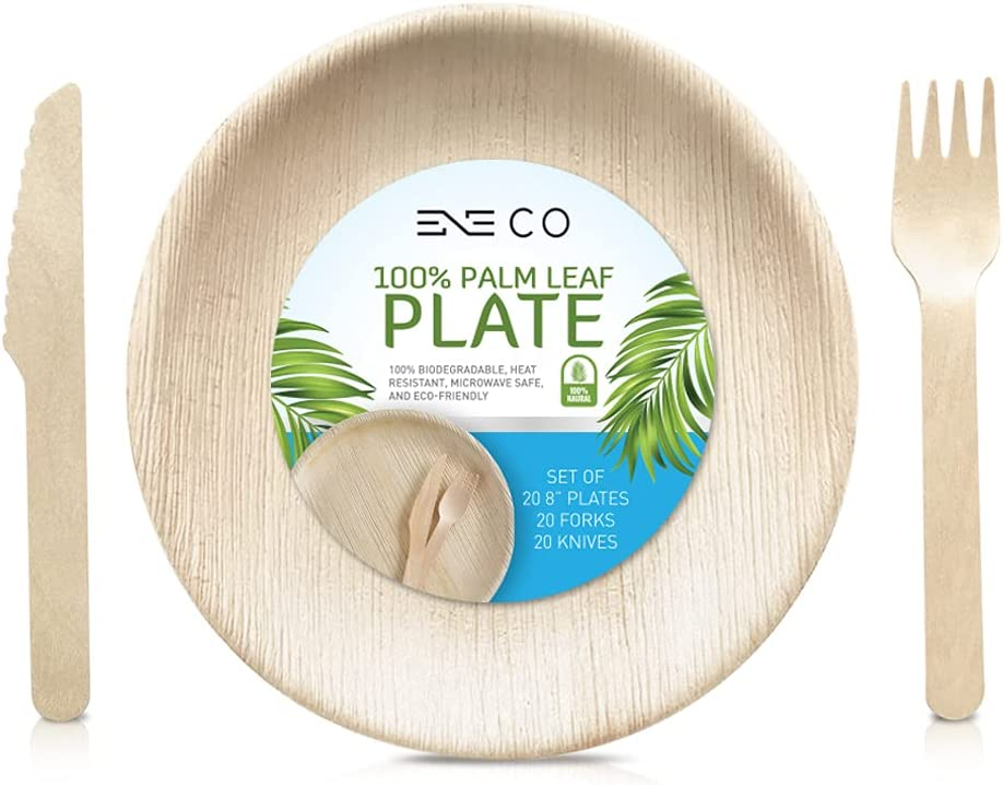 Rapid rise ENE Co shopping Palm Leaf Plates - Pack 20 Round Inch of 60 Eco-Fri 8