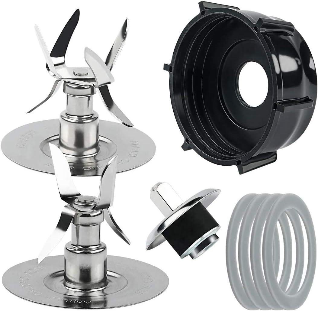 Kaxofang Piezas de Repuesto para Las Cuchillas de Hielo de Licuadora Oster & Osterizer 4980 4961 Kit de Pasador de ConexióN de Perno de Acoplamiento de Junta