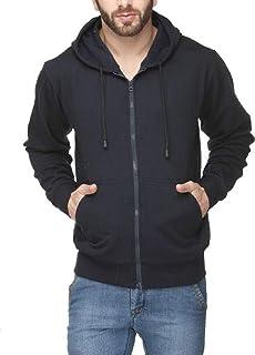 ADBUCKS Winter Wear Sweatshirt Hoodie with Zipper Cotton Fleece Jacket for Men's