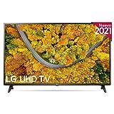 LG 43UP7500-ALEXA 2021-Smart TV 4K UHD 108 cm (43') con Procesador Quad Core, HDR10 Pro, HLG, Sonido Virtual Surround, HDMI 2.0, USB 2.0, Bluetooth 5.0, WiFi