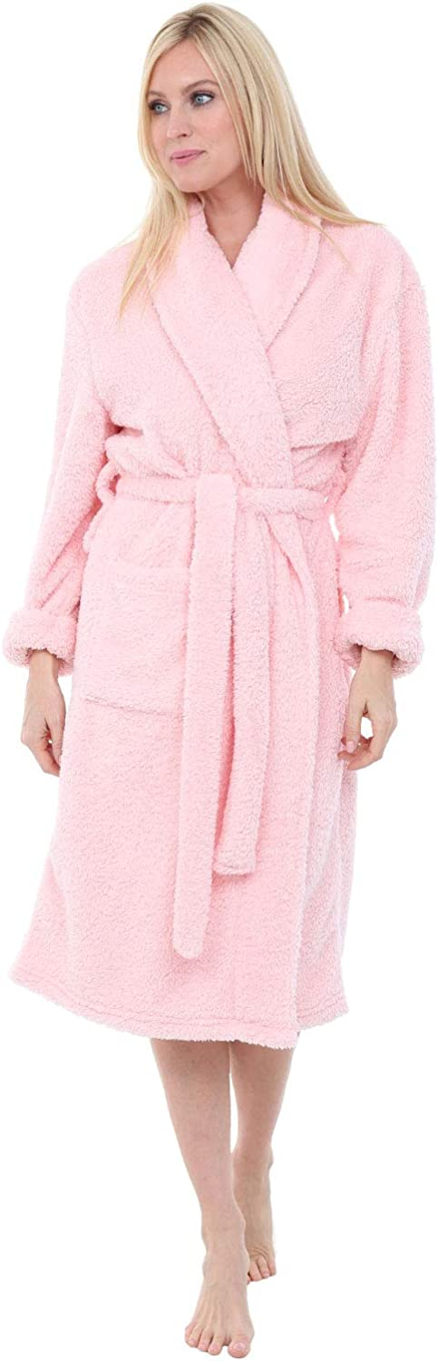 Alexander Del Max 46% OFF Rossa Women's Plush Fleece Warm Inventory cleanup selling sale Hair Robe Sh Long