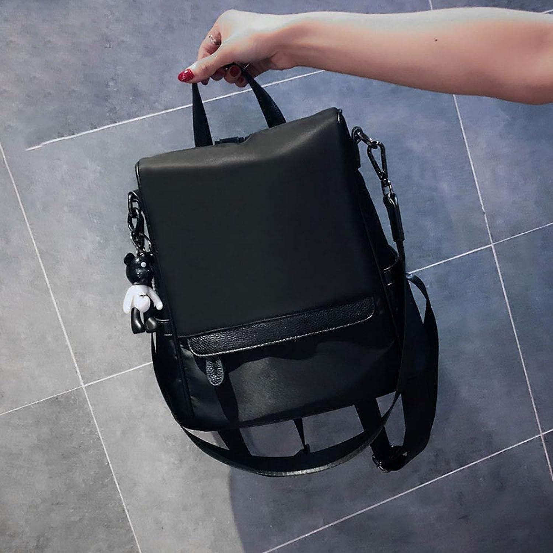 c27ebb2609bf6 IhDFR Tasche Oxford Cloth Cloth Cloth Ins Tasche Weibliche Schultertasche  Rucksack Wilde Student Casual Praktische Mode (Farbe Schwarz) B07Q2XDRKG ...