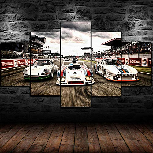 45Tdfc 5 Unidades Pictures White 1978 Porsc 935 936 Rac Cars Poster Painting Home Decor Modern Wall Art Canvas HD Prints Frame Modular Poster
