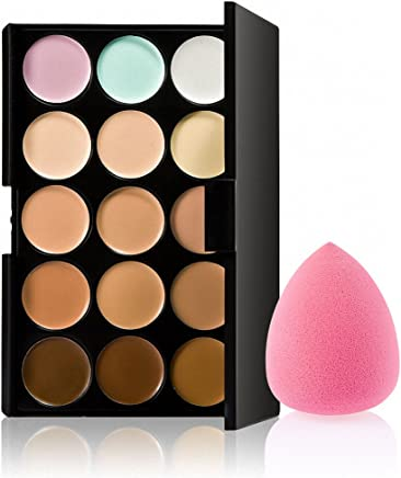 Generic 15 Colors Contour Concealer Palette with 1 Flawless Makeup Foundation Puff