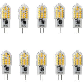 OUGEER Pack de 10 Bombillas LED de Bajo Consumo G4 3W,30 SMD 2835 ...
