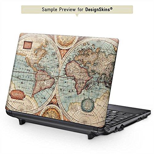 MSI S262 12,1 Zoll Aufkleber Schutz Folie Design Sticker Skin Vintage Weltkarte Karte Map