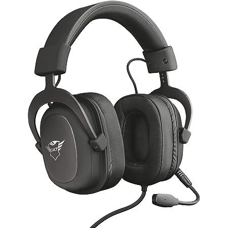 Trust Cuffie Gaming GXT 414 Zamak con Flessibile Microfono Staccabile e Archetto Regolabile, 3.5 mm Jack, Filo, Over Ear, PC, PS4, PS5, Xbox Series X, Xbox One, Switch, Nero