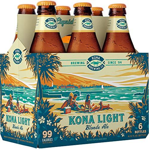 6 Flaschen Kona Light Bier a 0,355l aus Hawaii Blonde Ale Mango