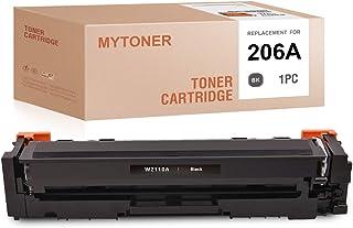 MYTONER (NO CHIP) Compatible Toner Cartridge Replacement for HP 206A W2110A for Color Laserjet Pro M255dw Color Laserjet M...