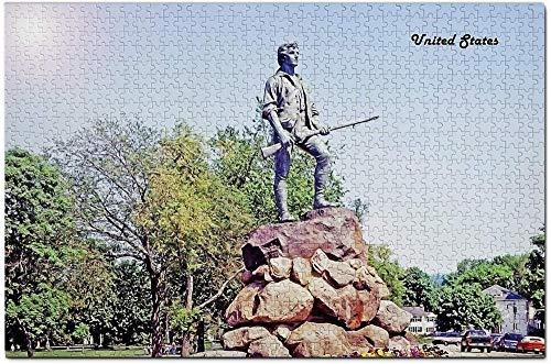 LIXB 1,000 Rompecabezas para Adultos, Estatua de la milicia Estadounidense Lexington, Rompecabezas...