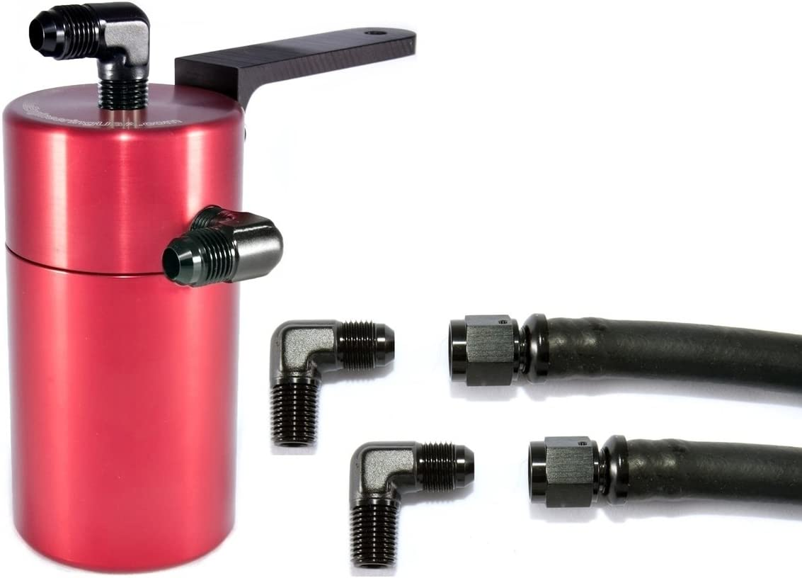 Elite Engineering Standard PCV Oil Catch Can  Hardware with Bla